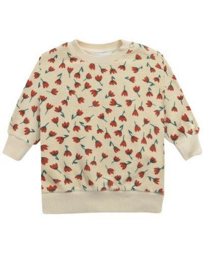 Beżowa bluza w kwiaty Bobo Choses