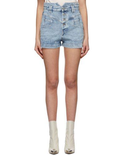 Niebieskie jeansy z paskiem srebrne Isabel Marant