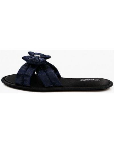 Синие кожаные домашние тапочки Petit Pas