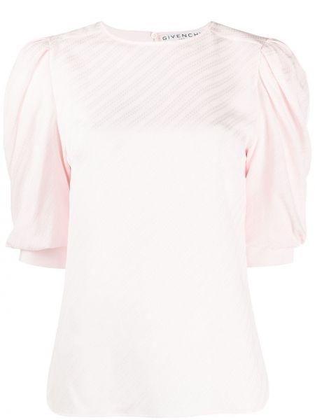 Bluzka jedwabna różowa Givenchy