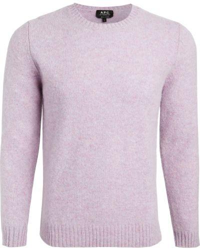 Prążkowany długi sweter wełniany z długimi rękawami A.p.c.