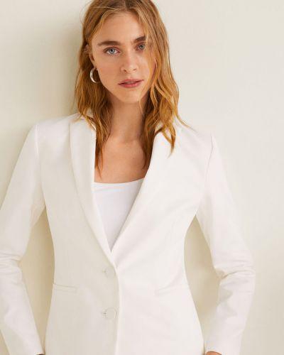 Классический пиджак узкий белый Mango