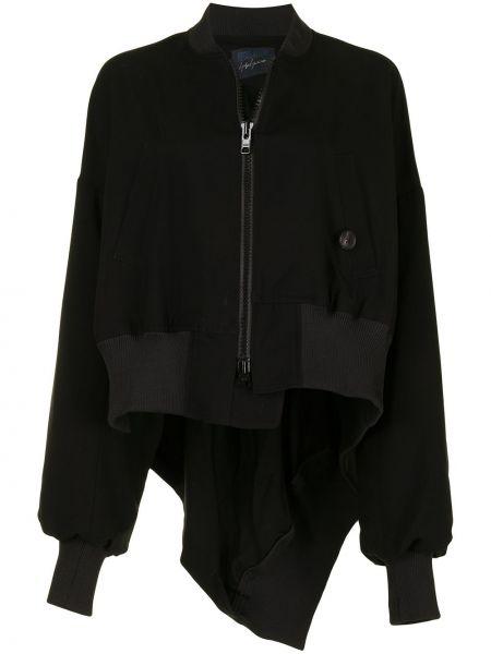Черная куртка на молнии с воротником Yohji Yamamoto