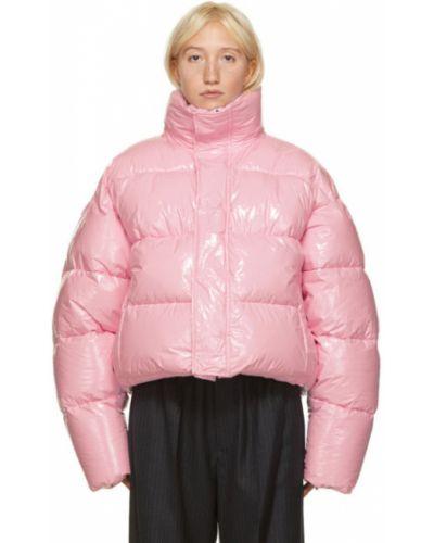 Теплая черная длинная куртка с воротником Balenciaga