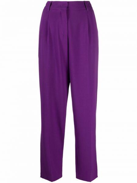 Fioletowe spodnie z wiskozy Blanca Vita