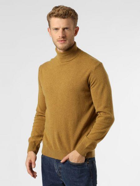 Żółty z kaszmiru sweter Andrew James