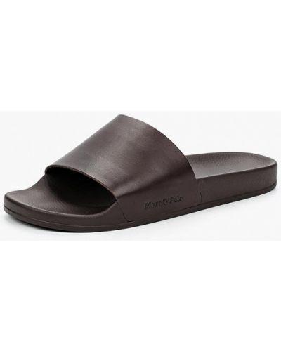 Коричневые сандалии кожаные Marc O'polo