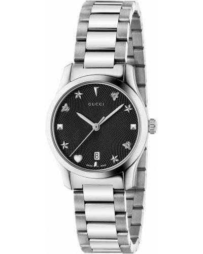Повседневные серебряные часы водонепроницаемые Gucci