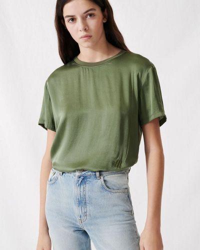 Зеленая с рукавами блузка Maje