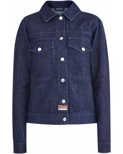 Джинсовая куртка с вышивкой хлопковая Kenzo