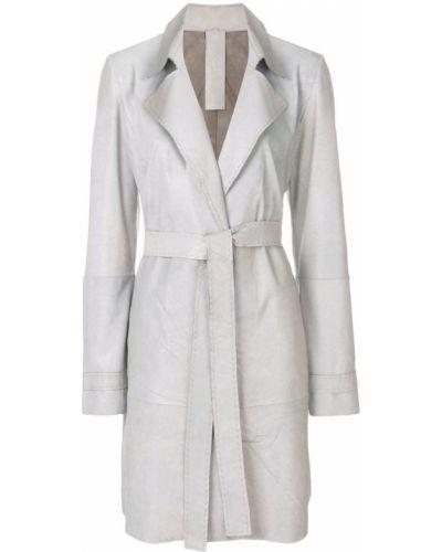 Серое пальто классическое с поясом Vanderwilt