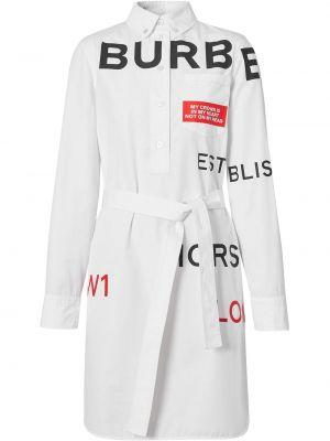 Платье макси длинное - белое Burberry