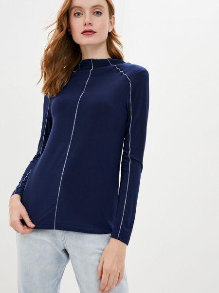 Блузка с длинным рукавом синяя весенний Lina