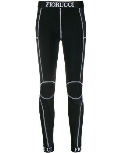 Черные спортивные леггинсы прозрачные Fiorucci