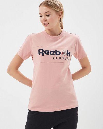 Розовая футболка индийская Reebok Classics