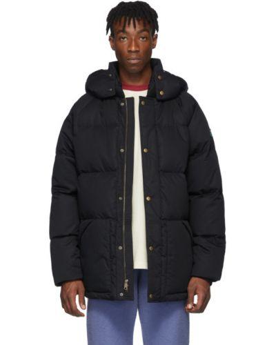 Czarna długa kurtka pikowana bawełniana Aime Leon Dore