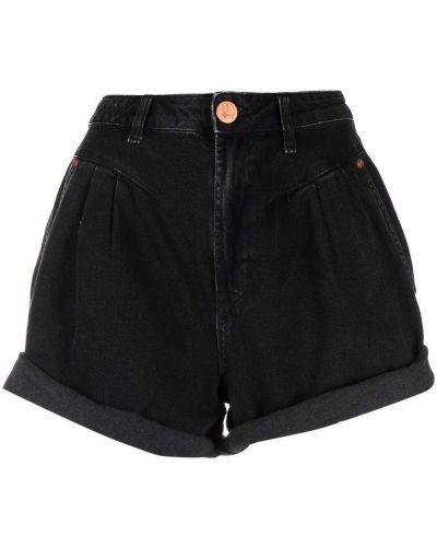 Черные шорты с карманами One Teaspoon