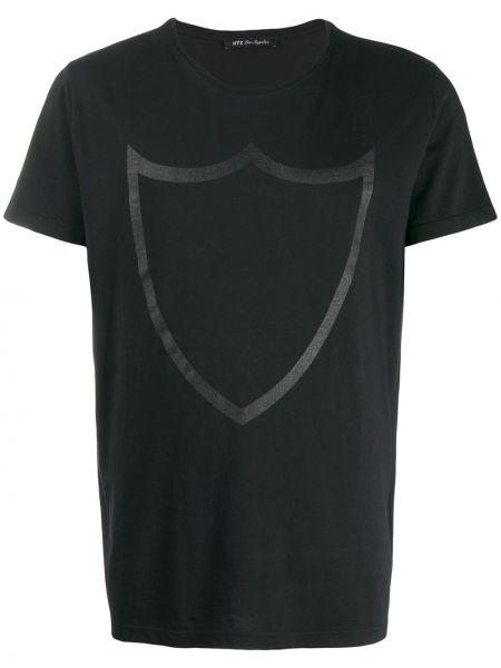 Czarny t-shirt bawełniany krótki rękaw Htc Los Angeles
