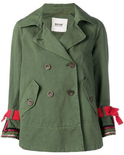 Пиджак двубортный - зеленый Bazar Deluxe