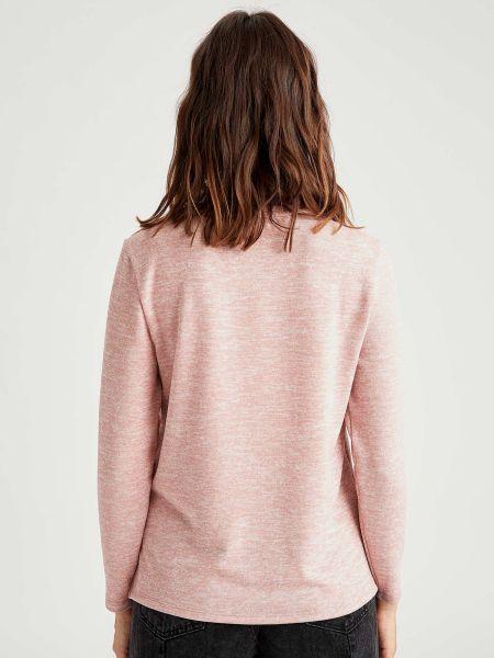 Розовый свитер с надписью из вискозы Defacto