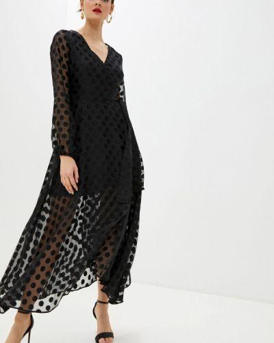 Черное джинсовое платье с запахом Guess Jeans