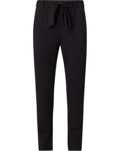 Czarne spodnie z paskiem z nylonu Moss Copenhagen