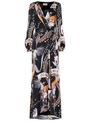 Платье черное сатиновое Temperley London