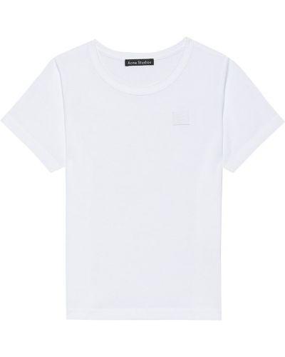 Biały t-shirt bawełniany Acne Studios Kids