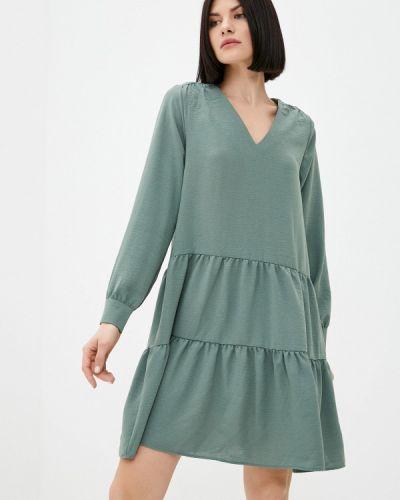 Прямое зеленое платье А-силуэта Zarina
