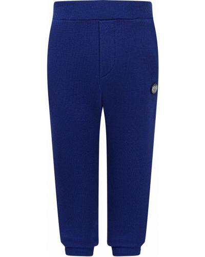 Синие спортивные брюки из вискозы Armani Junior