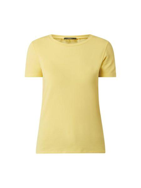 Żółty t-shirt bawełniany Weekend Max Mara