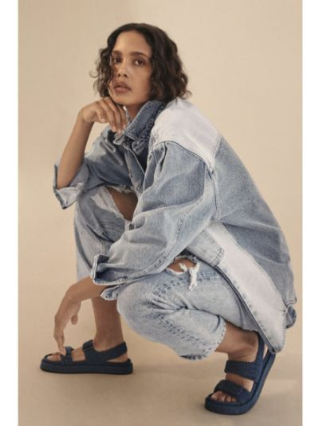 Sandały - niebieskie Mango