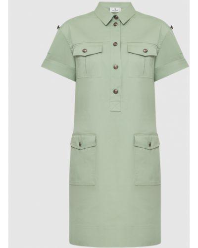 Платье миди - зеленое Etro