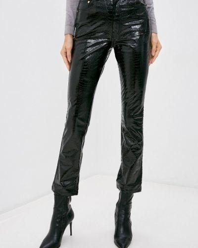 Черные кожаные брюки Chiara Ferragni Collection