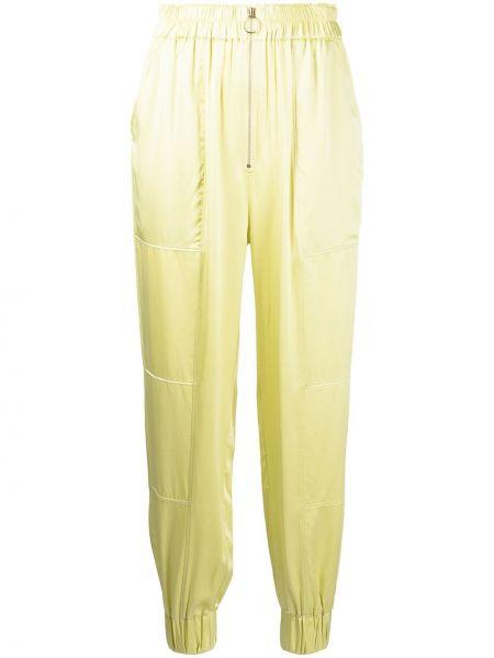 Шелковые брюки - зеленые Nicholas