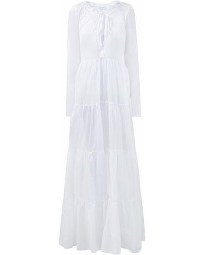 Пышное платье макси в стиле бохо с воротником с рукавом реглан Ermanno Scervino