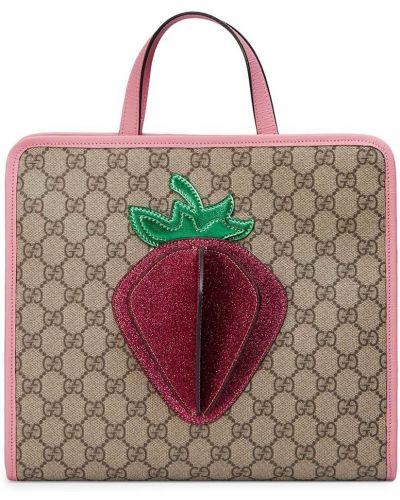 Нейлоновая сумка-тоут с карманами Gucci Kids