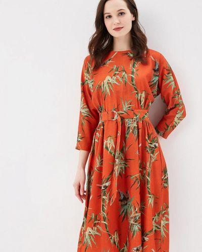 Оранжевое платье Warehouse