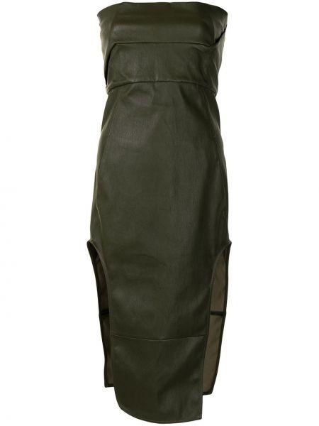 Sukienka skórzana - zielona Rick Owens