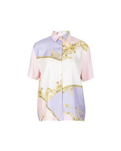 Блузка розовая Versace Collection