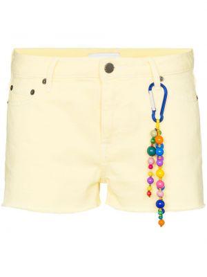 Джинсовые шорты с заниженной талией - желтые Mira Mikati