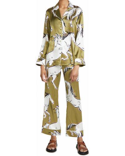 Пижамная шелковая пижама с длинными рукавами Olivia Von Halle