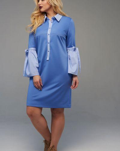 Платье макси в полоску теплое Mari-line
