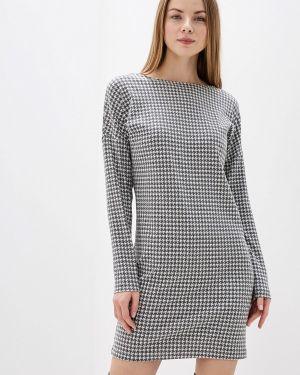 Платье серое прямое Danmaralex