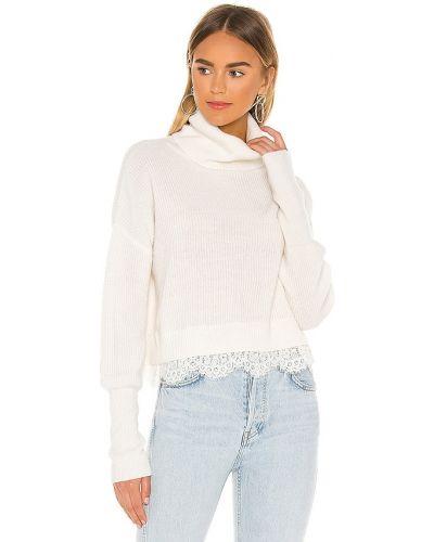 Ажурный бежевый шерстяной свитер Saylor