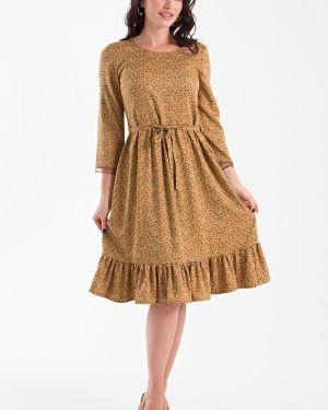 Платье с поясом с цветочным принтом из штапеля Taiga