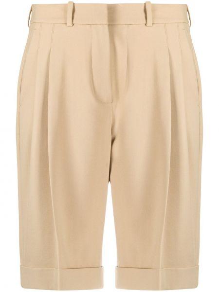 Плиссированные шерстяные шорты с карманами Racil