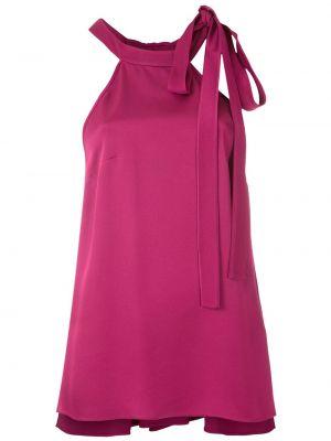 Розовая блузка без рукавов из вискозы Gloria Coelho