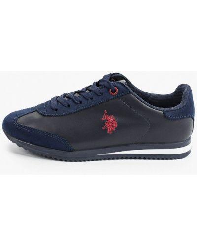 Кожаные синие низкие кроссовки U.s. Polo Assn.