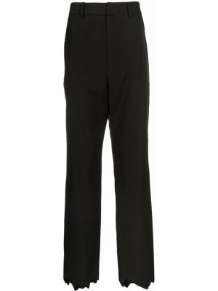 Czarne spodnie z wysokim stanem wełniane Ader Error